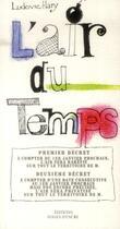 Couverture du livre « L'air du temps » de Ludovic Hary aux éditions Folies D'encre