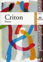 Couverture du livre « Criton » de Platon aux éditions Hatier
