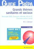 Couverture du livre « GRANDS THEMES SANITAIRES ET SOCIAUX » de Marie-Christine Denoyer aux éditions Elsevier-masson