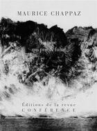 Couverture du livre « La pipe qui prie et fume » de Maurice Chappaz aux éditions Conference