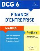 Couverture du livre « Finance d'entreprise » de Jacqueline Delahaye et Florence Delahaye-Duprat aux éditions Dunod