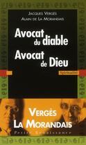 Couverture du livre « Avocat du diable ; avocat de Dieu » de La Morandais Alain D aux éditions Presses De La Renaissance