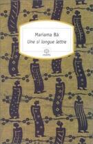 Couverture du livre « Une si longue lettre » de Mariama Ba aux éditions Motifs