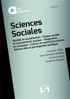 Couverture du livre « Sciences sociales (9e édition) » de Jacques Gervasoni et Christine Dollo et Jean-Renaud Lambert et Sandrine Parayre aux éditions Sirey
