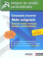 Couverture du livre « Concours aide soignant n22 » de Godrie/Ragot/Simonin aux éditions Nathan