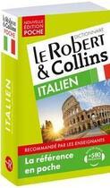 Couverture du livre « LE ROBERT & COLLINS ; POCHE ; dictionnaire ; italien » de Collectif aux éditions Le Robert