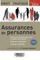 Couverture du livre « Assurances de personnes 2018/2019 (5e édition) » de Francois Couilbault aux éditions L'argus De L'assurance