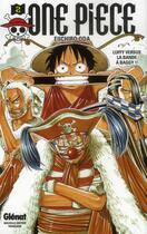 Couverture du livre « One piece t.2 ; Luffy versus la bande à Baggy !! » de Eiichiro Oda aux éditions Glenat