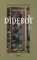 Couverture du livre « Diderot, un matérialisme éclectique » de Annie Ibrahim aux éditions Vrin