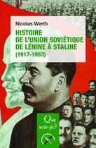 Couverture du livre « Histoire de l'Union soviétique, de Lénin à Staline (1917-1953) (5e édition) » de Nicolas Werth aux éditions Puf