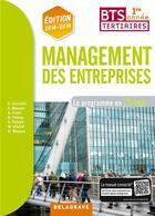 Couverture du livre « Management des entreprises ; BTS tertiaire 1re année ; le programme en 12 cas ; pochette élève (édition 2018/2019) » de Cornolti Christophe aux éditions Delagrave