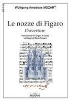 Couverture du livre « Le nozze di figaro (ouverture) pour orgue a 4 mains » de Mozart Wa aux éditions Delatour