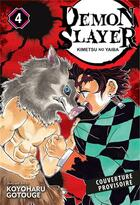 Couverture du livre « Demon slayer T.4 » de Koyoharu Gotoge aux éditions Panini