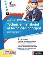Couverture du livre « Concours technicien territorial et technicien principal ; CAP (édition 2020/2021) » de Collectif aux éditions Nathan