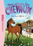 Couverture du livre « Mes amis les chevaux T.3 ; un choix difficile » de Sophie Thalmann aux éditions Hachette Jeunesse
