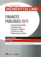 Couverture du livre « Finances publiques (édition 2019) » de Francois Chouvel aux éditions Gualino