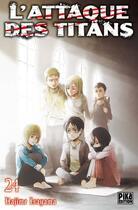 Couverture du livre « L'attaque des titans T.24 » de Hajime Isayama aux éditions Pika