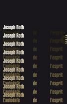 Couverture du livre « L'autodafé de l'esprit » de Joseph Roth aux éditions Allia