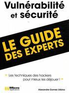 Couverture du livre « Vulnérabilité et sécurité ;
