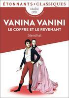 Couverture du livre « Vanina Vanini ; le coffre et le revenant » de Stendhal aux éditions Flammarion