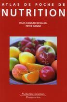 Couverture du livre « ATLAS DE POCHE ; atlas de poche de nutrition » de Hans Konrad Biesalski et Peter Grimm aux éditions Medecine Sciences Publications