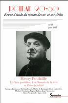 Couverture du livre « Henry Poulaille » de Bruno Curatolo et Christian Morzewski aux éditions Pu Du Septentrion