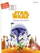 Couverture du livre « Mes premières lectures ; titre 1 Disney (CE1) l'attaque des clones » de Agnes Berger aux éditions Hachette Enfants