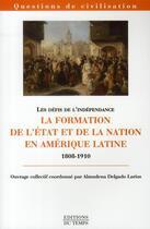 Couverture du livre « Formation de l'Etat et de la nation américaine » de Collectif aux éditions Editions Du Temps