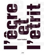 Couverture du livre « L'êcre et l'étrit » de Hubert Haddad aux éditions Nouvelles Editions Place