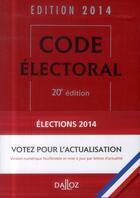 Couverture du livre « Code électoral (édition 2015) » de Bernard Maligner aux éditions Dalloz