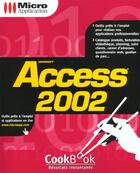 Couverture du livre « Cookbook Access 2002 » de Herve Inisan aux éditions Micro Application