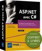Couverture du livre « ASP.NET avec C# ; coffret de 2 livres : développer des applications web avec le framework ASP.NET Core MVC (2e édition) » de Brice-Arnaud Guerin et Christophe Gigax aux éditions Eni