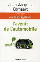 Couverture du livre « L'avenir de l'automobile » de Jean-Jacques Cornaert aux éditions Armand Colin