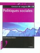 Couverture du livre « Politiques Sociales » de Christelle Jamot-Robert aux éditions Vuibert