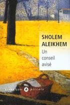 Couverture du livre « Un conseil avisé » de Aleikhem Sholem aux éditions Liana Levi