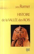 Couverture du livre « Histoire de la vallée des rois » de John Romer aux éditions Oxus