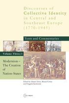 Couverture du livre « Modernism: The Creation of Nation-States » de Hristo Botev aux éditions Central European University Press