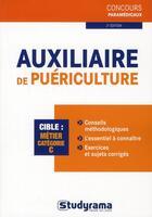 Couverture du livre « Auxiliaire de puériculture (2 édition) » de Philippe Dominges aux éditions Studyrama