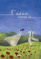 Couverture du livre « C'était écrit comme ça » de Jean-Didier et Zad aux éditions Utopique