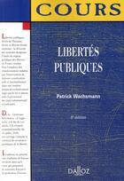 Couverture du livre « Libertés publiques (6e édition) » de Patrick Wachsmann aux éditions Dalloz