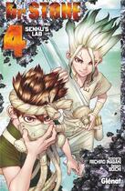 Couverture du livre « Dr. Stone T.4 ; Senku's lab » de Riichiro Inagaki et Boichi aux éditions Glenat