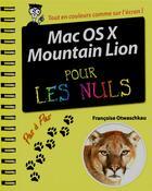 Couverture du livre « Mac OS X Mountain Lion pas à pas pour les nuls » de Underdahl? Keith aux éditions First Interactive