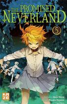 Couverture du livre « The promised Neverland T.5 » de Posuka Demizu et Kaiu Shirai aux éditions Kaze