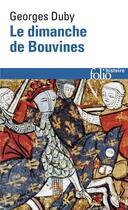 Couverture du livre « Le dimanche de Bouvines » de Georges Duby aux éditions Gallimard
