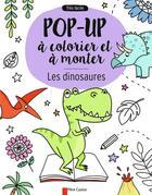 Couverture du livre « Les dinosaures ; pop-up à colorier et à monter » de Anton Poitier et Elizabeth Golding et Elisa Pagenelli aux éditions Pere Castor