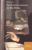 Couverture du livre « Lettres romaines de du bellay » de Marc Bizer aux éditions Pu De Montreal