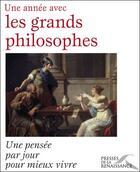 Couverture du livre « Une année avec les grands philosophes » de Matthieu Grimpret aux éditions Presses De La Renaissance