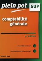Couverture du livre « Comptabilite générale (9e édition) » de Eric Dumalanede aux éditions Foucher