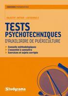 Couverture du livre « Tests psychotechniques d'auxiliaire de puériculture ; objectif : métier, catégorie C » de Stephanie Jaubert aux éditions Studyrama