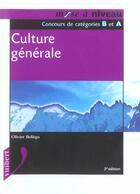 Couverture du livre « Culture Generale » de Olivier Bellego aux éditions Vuibert